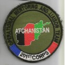 "Ecusson velcro fond kaki ""Operational Mentoring and Liaison Team"" - OMLT en Afghanistan"