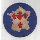 Patch Armée Catholique et Royale - Carte de France