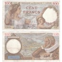 100 Francs Sully 14-9-1939 en SUP