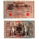 1.000 Mark type 1910 cachet rouge Série K
